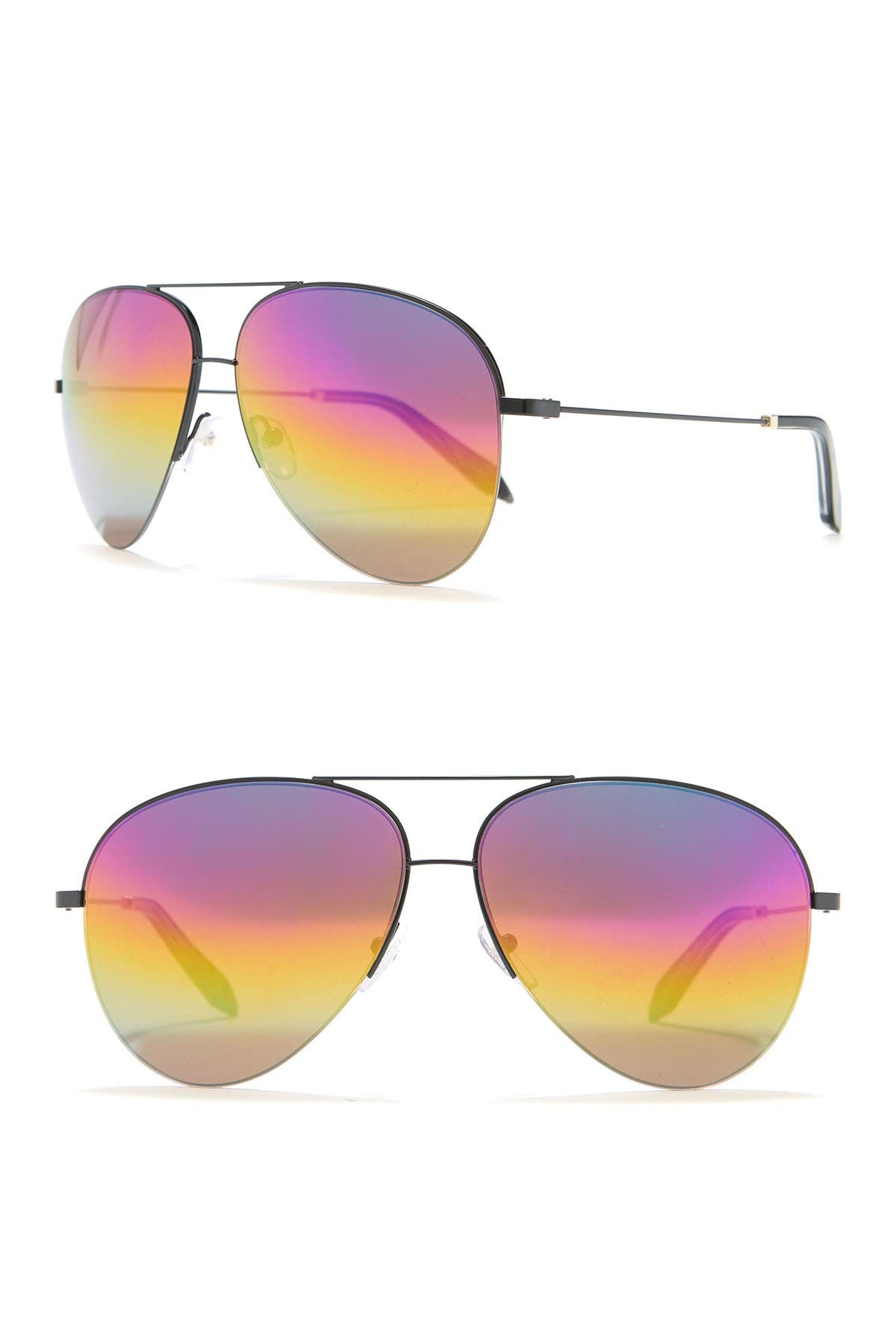 Image of Victoria Beckham 62mm Aviator Sunglasses