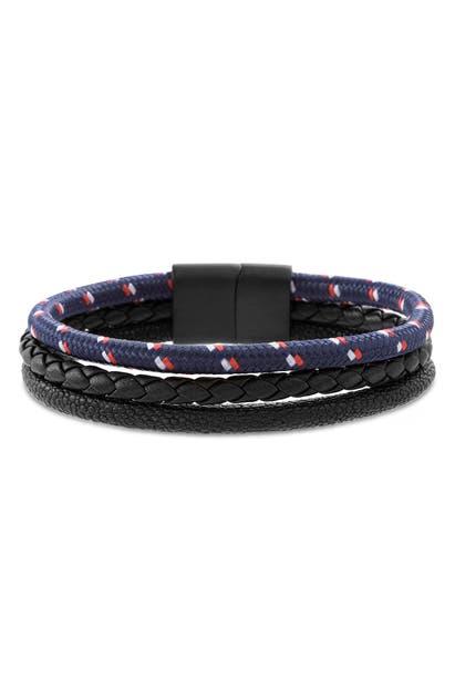 Ben Sherman Triple Strand Bracelet In Multi