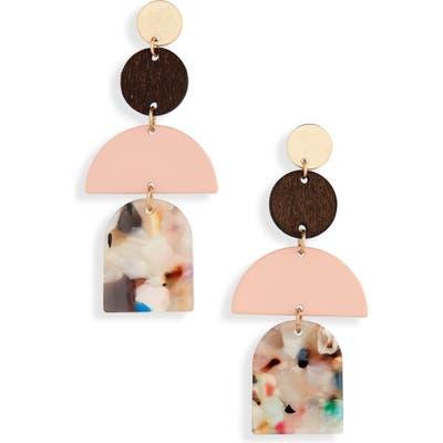 Bp. Geo Resin & Wood Linear Earrings