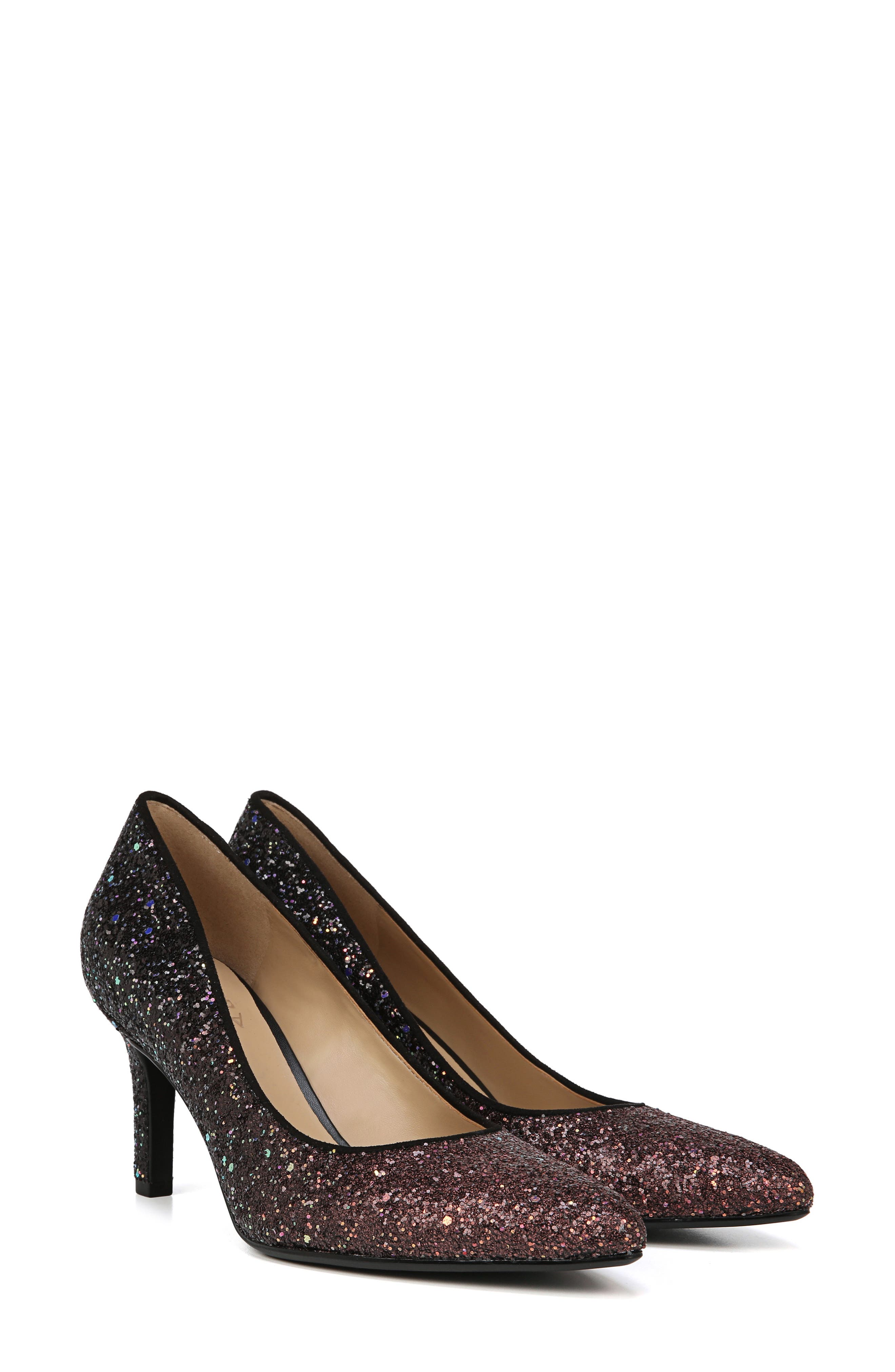 ,                             Natalie Pointy Toe Pump,                             Alternate thumbnail 7, color,                             MULTI GLITTER FABRIC
