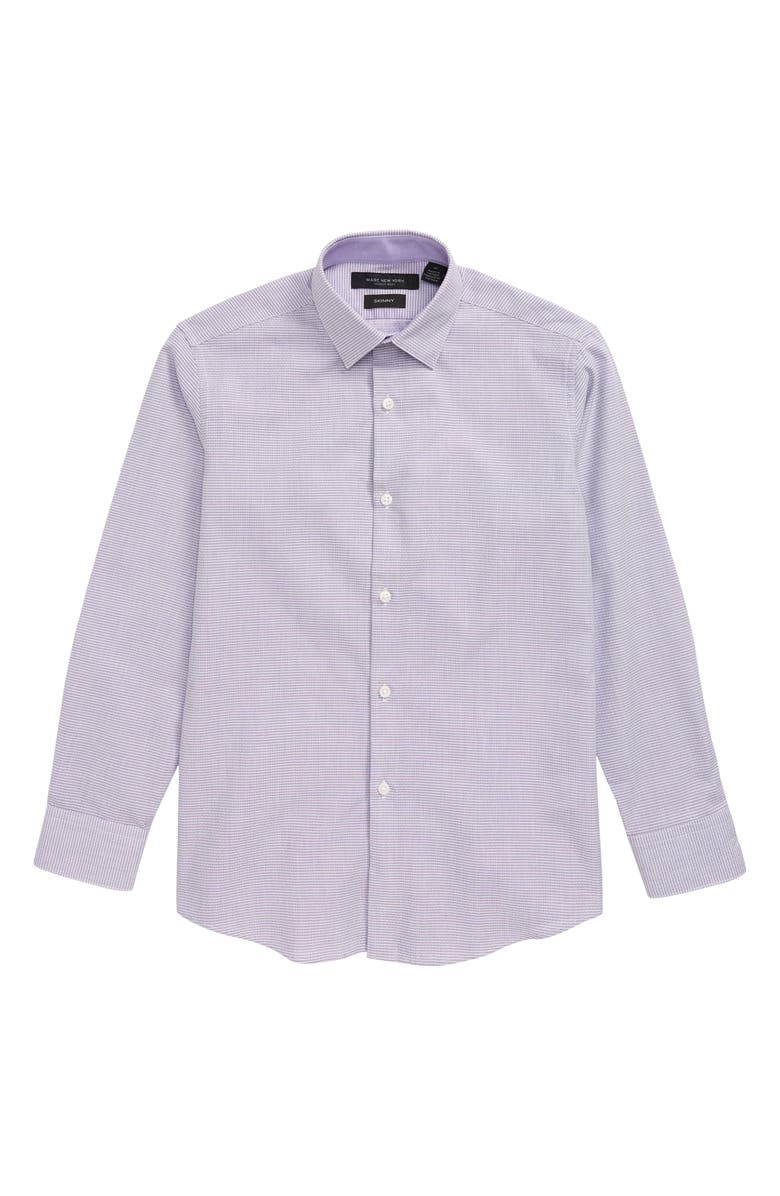 ANDREW MARC Stripe Dress Shirt, Main, color, BURGUNDY