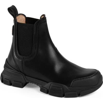 Gucci Leon Chelsea Boot, Black
