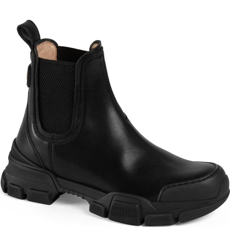 GUCCI Chelsea Boot, Main, color, BLACK