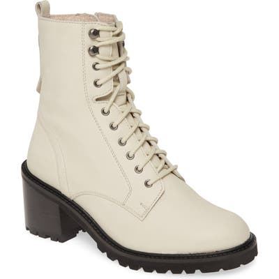 Seychelles Irresistible Combat Boot- White