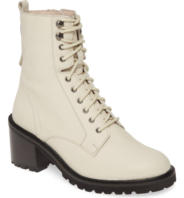 SEYCHELLES Irresistible Combat Boot, Main, color, OFF WHITE LEATHER
