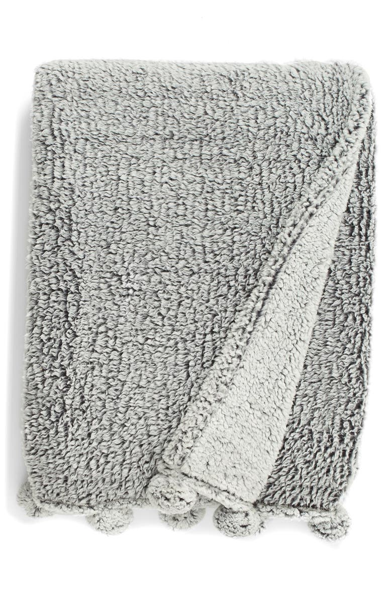 LEVTEX 'Frosted' Faux Shearling Throw Blanket, Main, color, 020