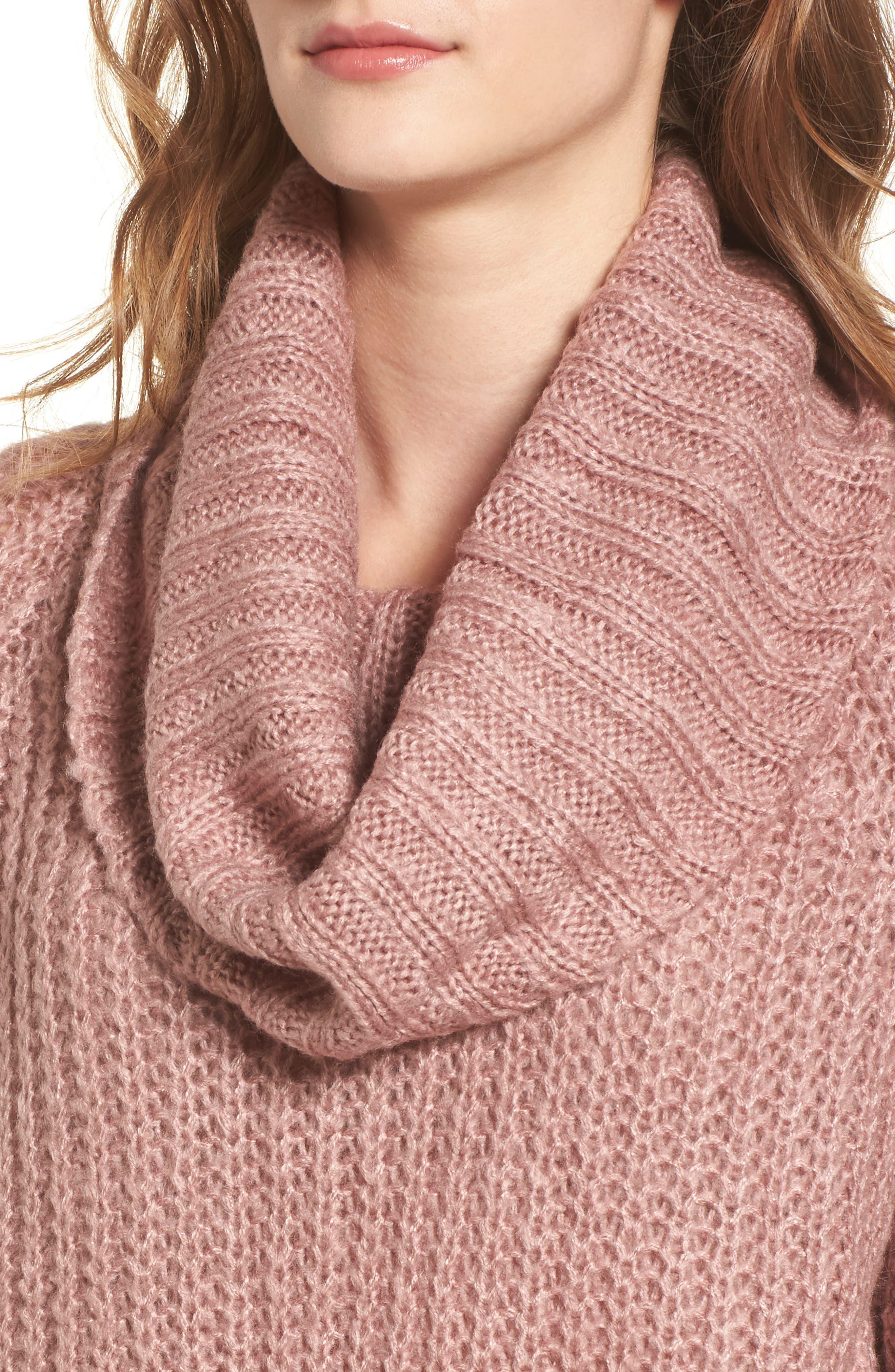 ,                             Cowl Neck Sweater,                             Alternate thumbnail 4, color,                             680