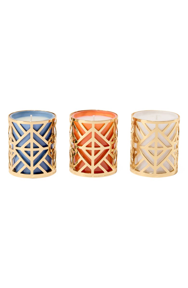 TORY BURCH Votive Candle Set, Main, color, WHITE