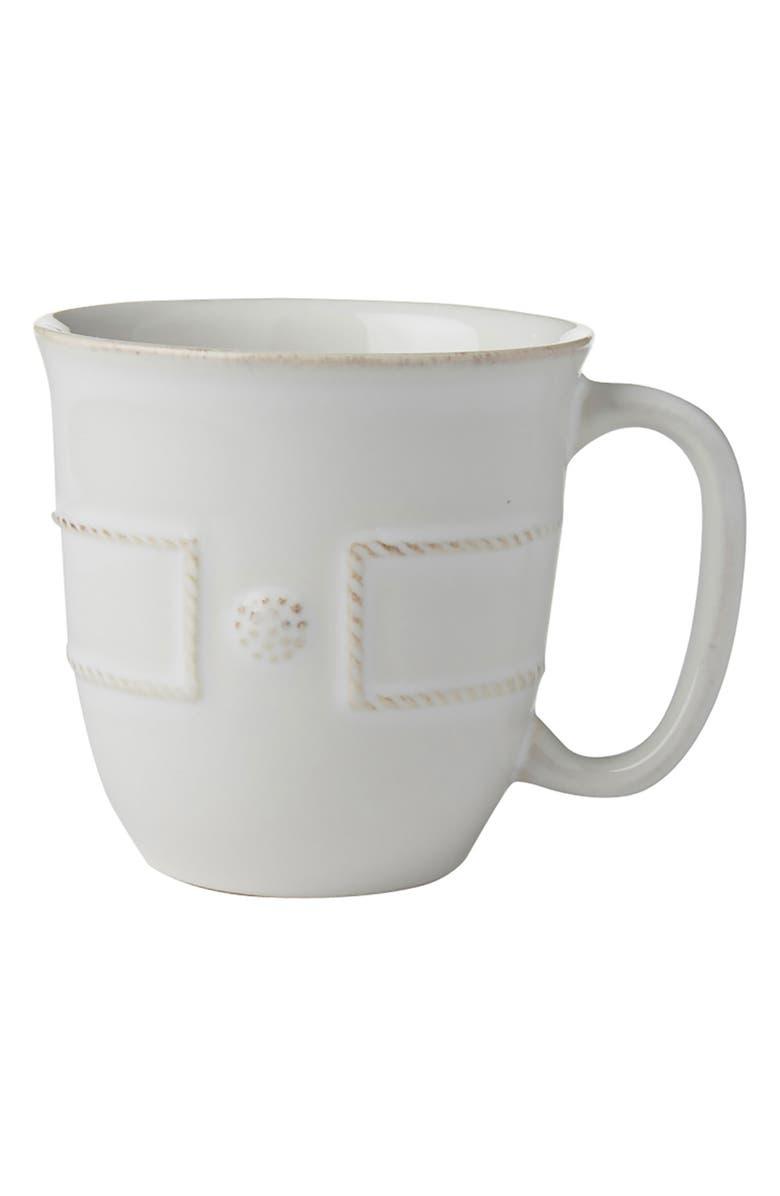 JULISKA Berry & Thread Ceramic Cup, Main, color, WHITEWASH