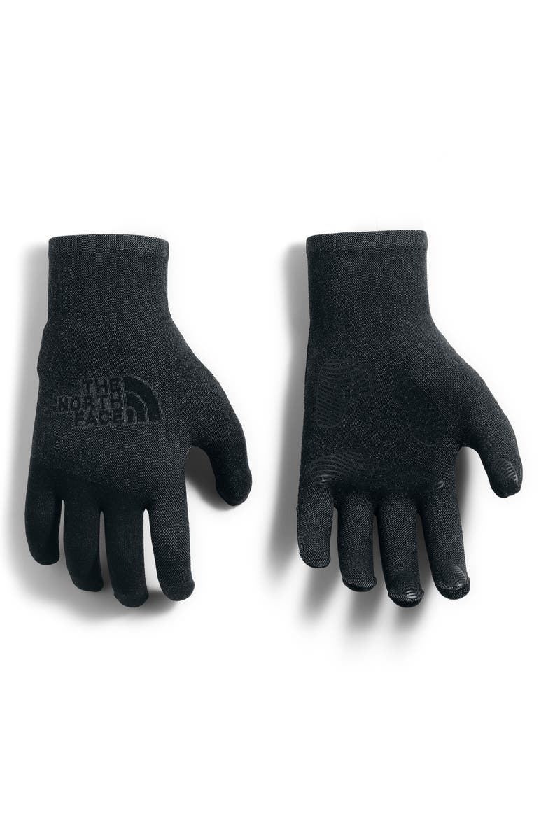 THE NORTH FACE Etip Knit Gloves, Main, color, TNF BLACK