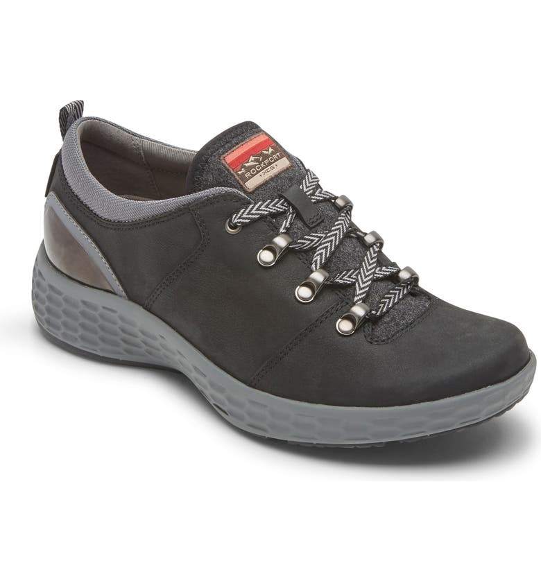 ROCKPORT Fresh Explore Waterproof Sneaker, Main, color, BLACK NUBUCK LEATHER