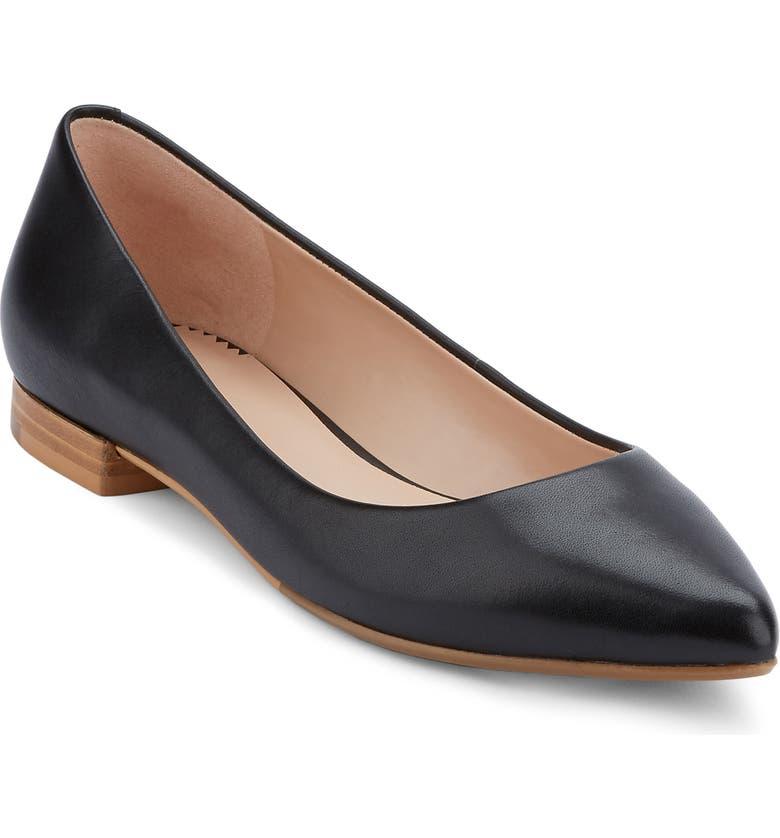 G.H. BASS & CO. Kayla Pointy Toe Flat, Main, color, 001