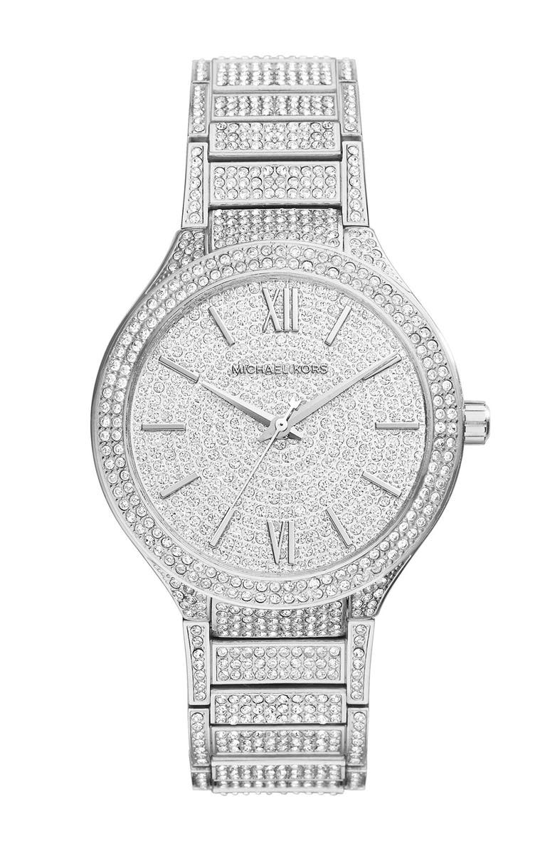 4de7e8a8753 Michael Kors 'Kerry' Pavé Round Bracelet Watch, 38mm, Main, color,