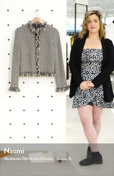 Artisanal Basket Inlay Jacquard Knit Jacket, sales video thumbnail