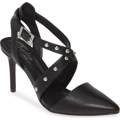 Charles By Charles David Vladimir Studded Pointed Toe Pump, Black