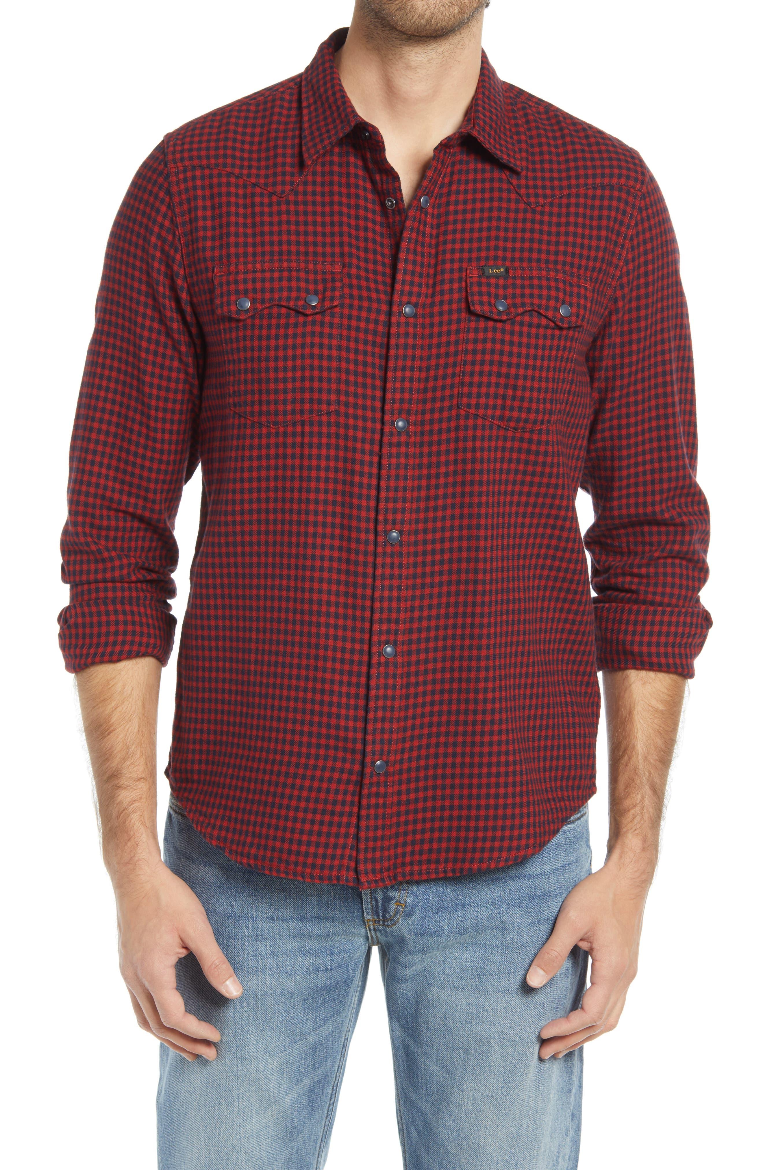 Rider Plaid Flannel Button-Up Shirt