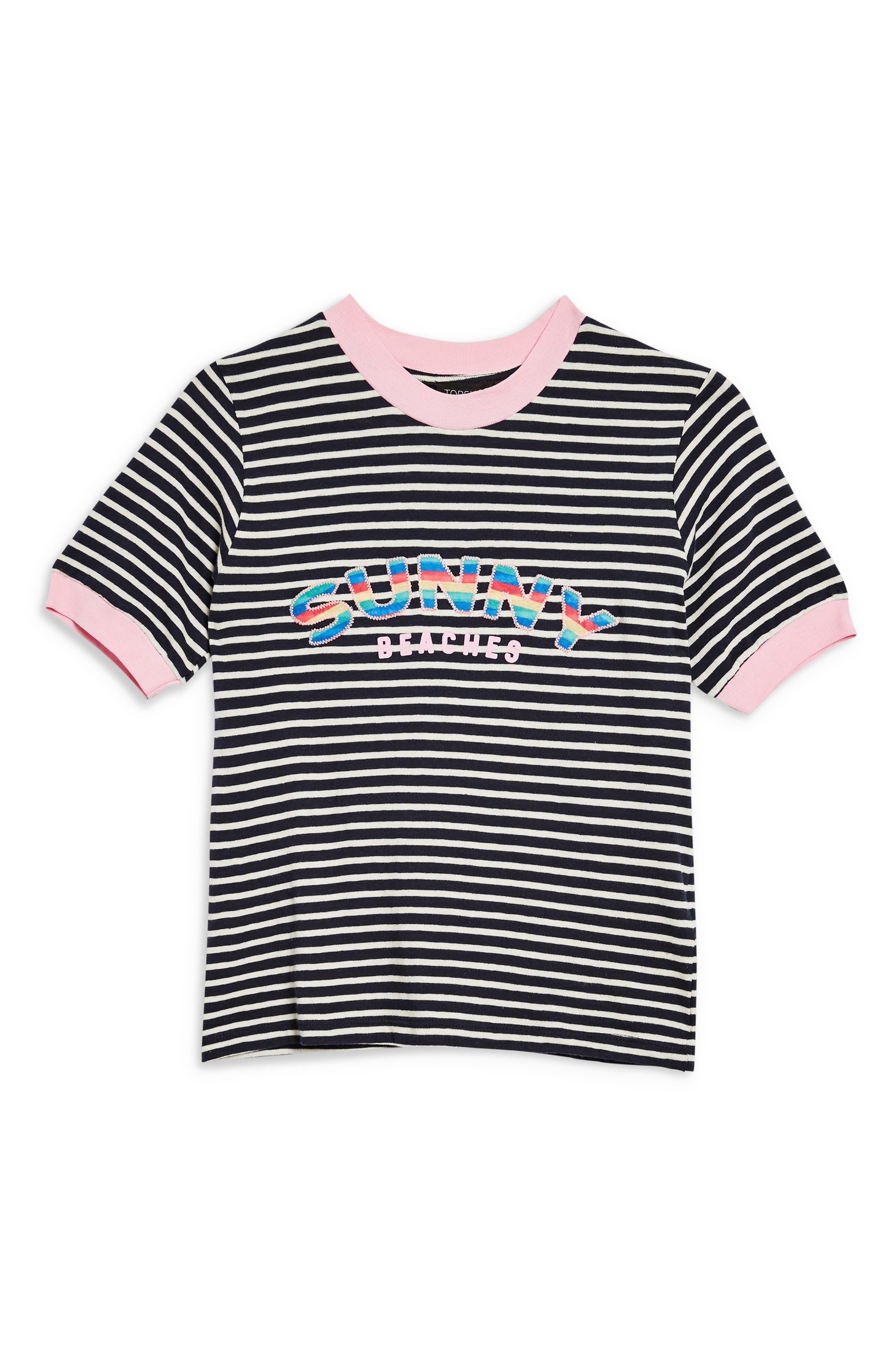 ,                             Sunny Beaches Stripe Tee,                             Alternate thumbnail 4, color,                             001