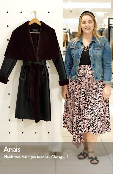 Faux Shearling Belted Coat, sales video thumbnail