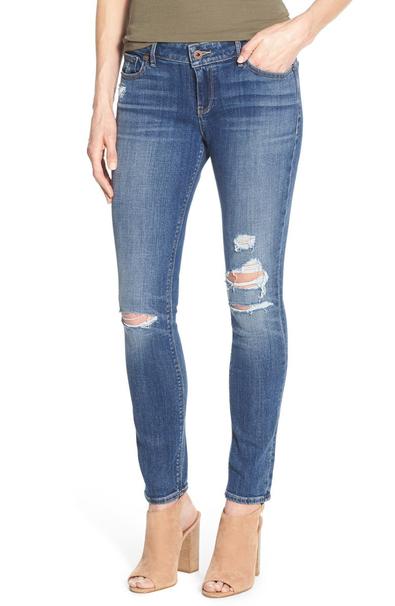 LUCKY BRAND 'Lolita' Distressed Stretch Skinny Jeans, Main, color, 430