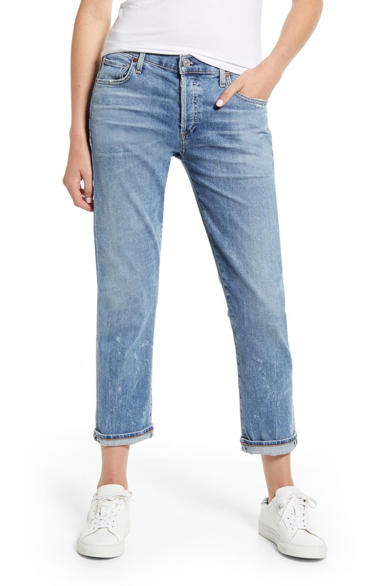CITIZENS OF HUMANITY Emerson Crop Boyfriend Jeans, Main, color, 470