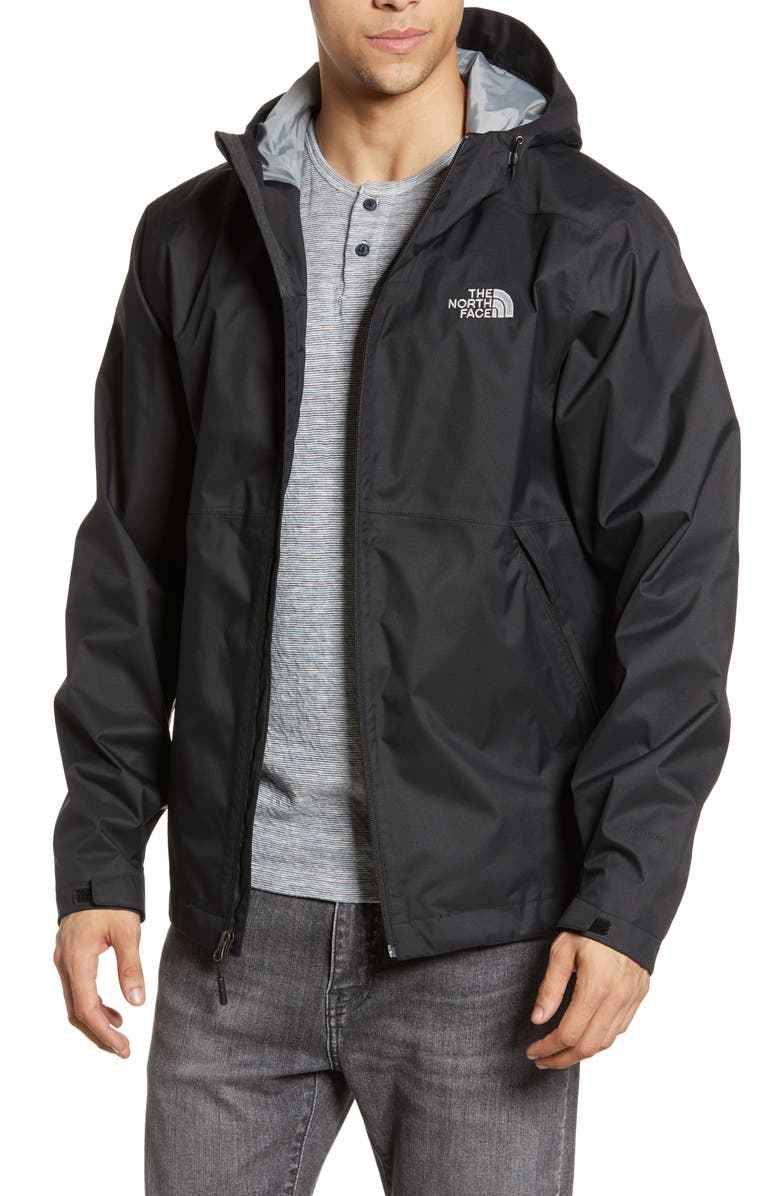 THE NORTH FACE Millerton Hooded Waterproof Jacket, Main, color, TNF BLACK/ TNF BLACK