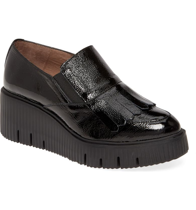 WONDERS C-6203 Wedge Loafer, Main, color, LACK NEGRO LEATHER