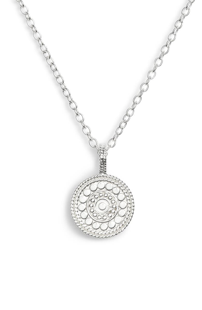 ANNA BECK Beaded Reversible Circle Pendant Necklace, Main, color, 040