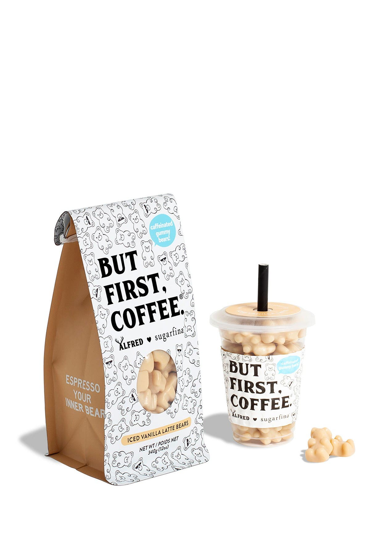 Image of SUGARFINA Iced Vanilla Latte Bears Mini Cup + Coffee Bag Kit