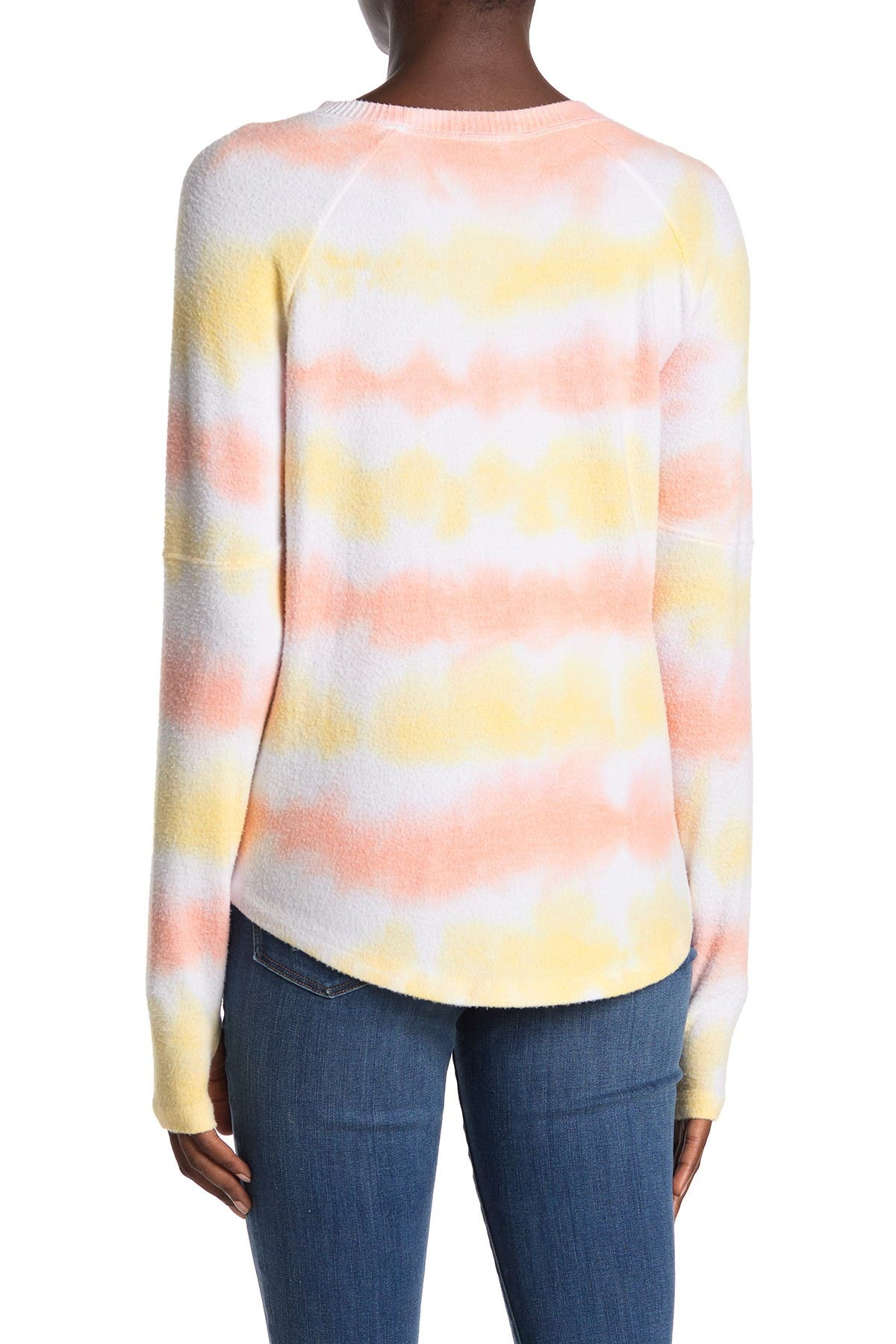 Theo and Spence Creamsicle Stripe Pullover