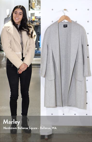 Shawl Collar Wool Blend Coat, sales video thumbnail