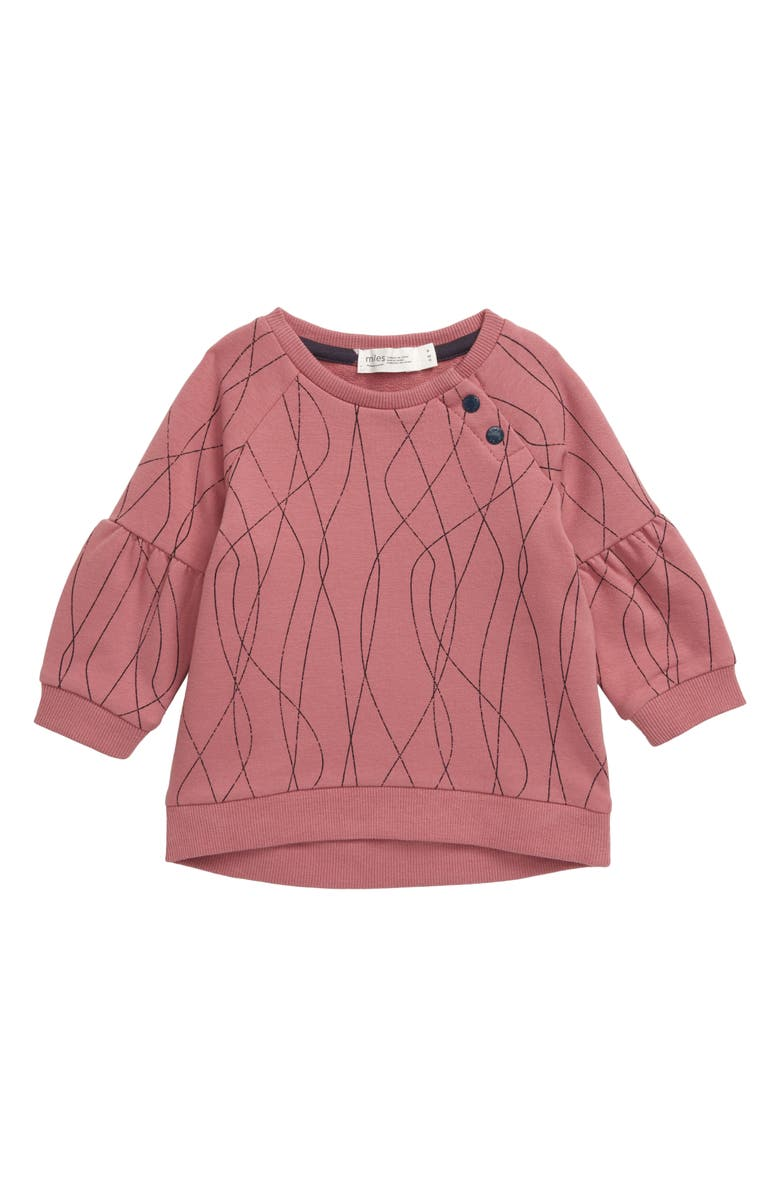 MILES BABY Print Sweatshirt, Main, color, PINK