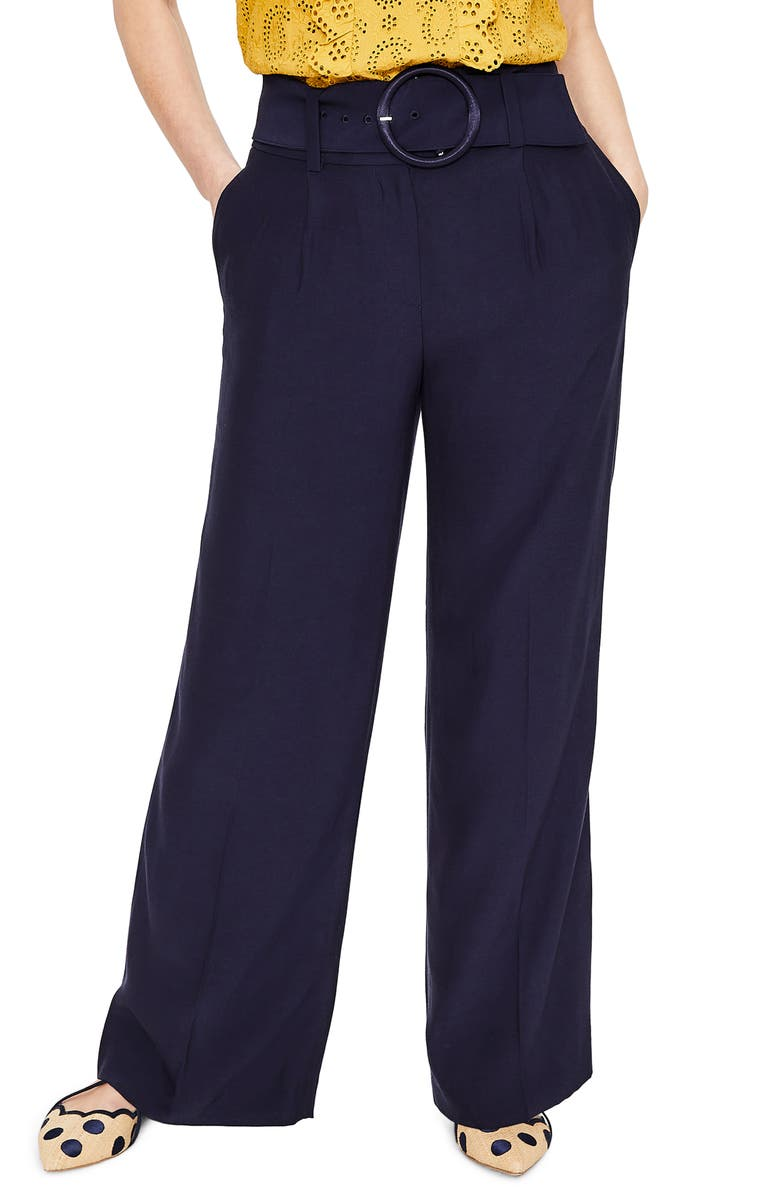Carrick Belted Wide Leg Trousers petite