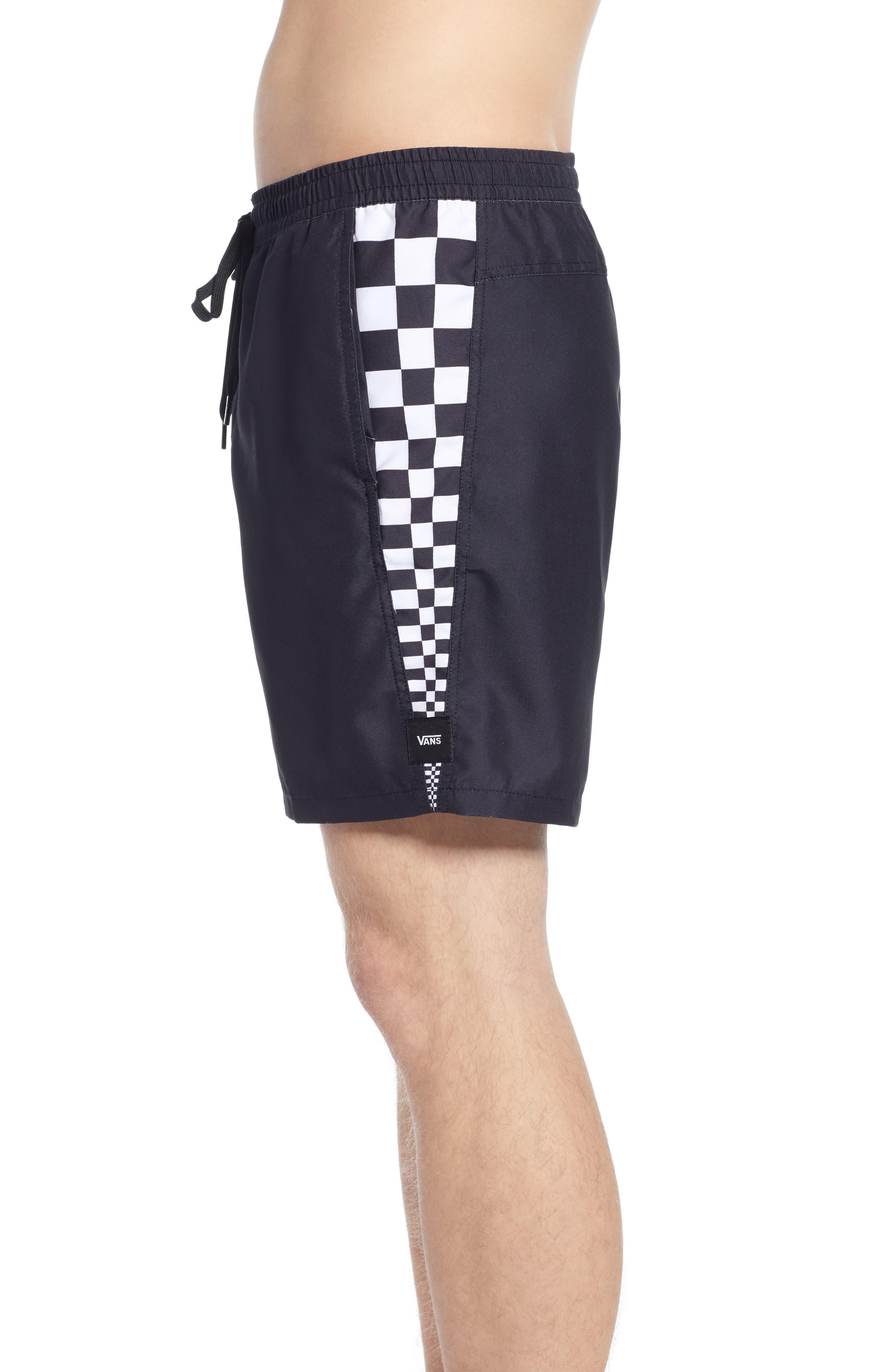 ,                             V Panel Volley Shorts,                             Alternate thumbnail 3, color,                             BLACK