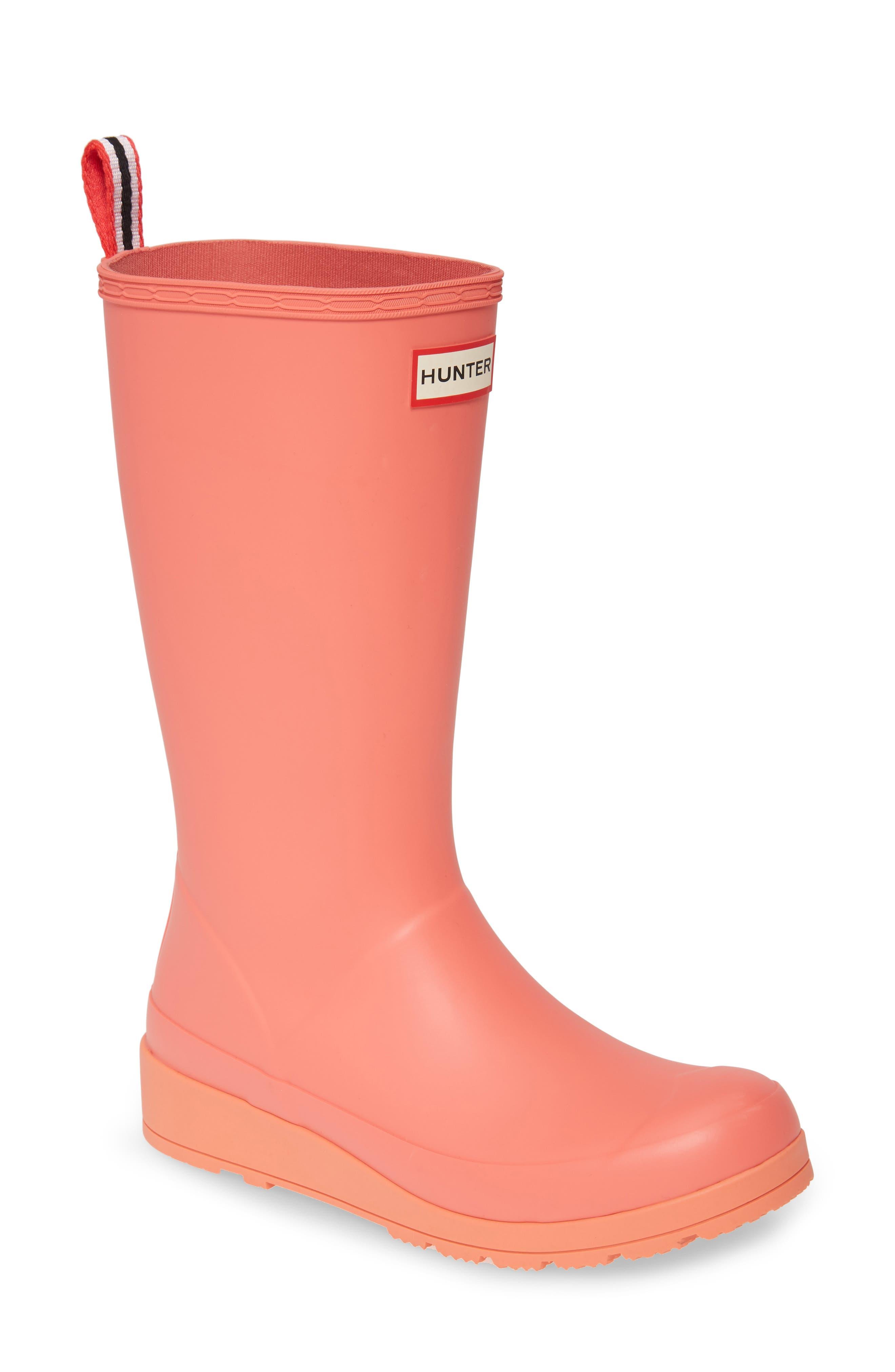 Hunter Original Play Tall Waterproof Rain Boot, Pink
