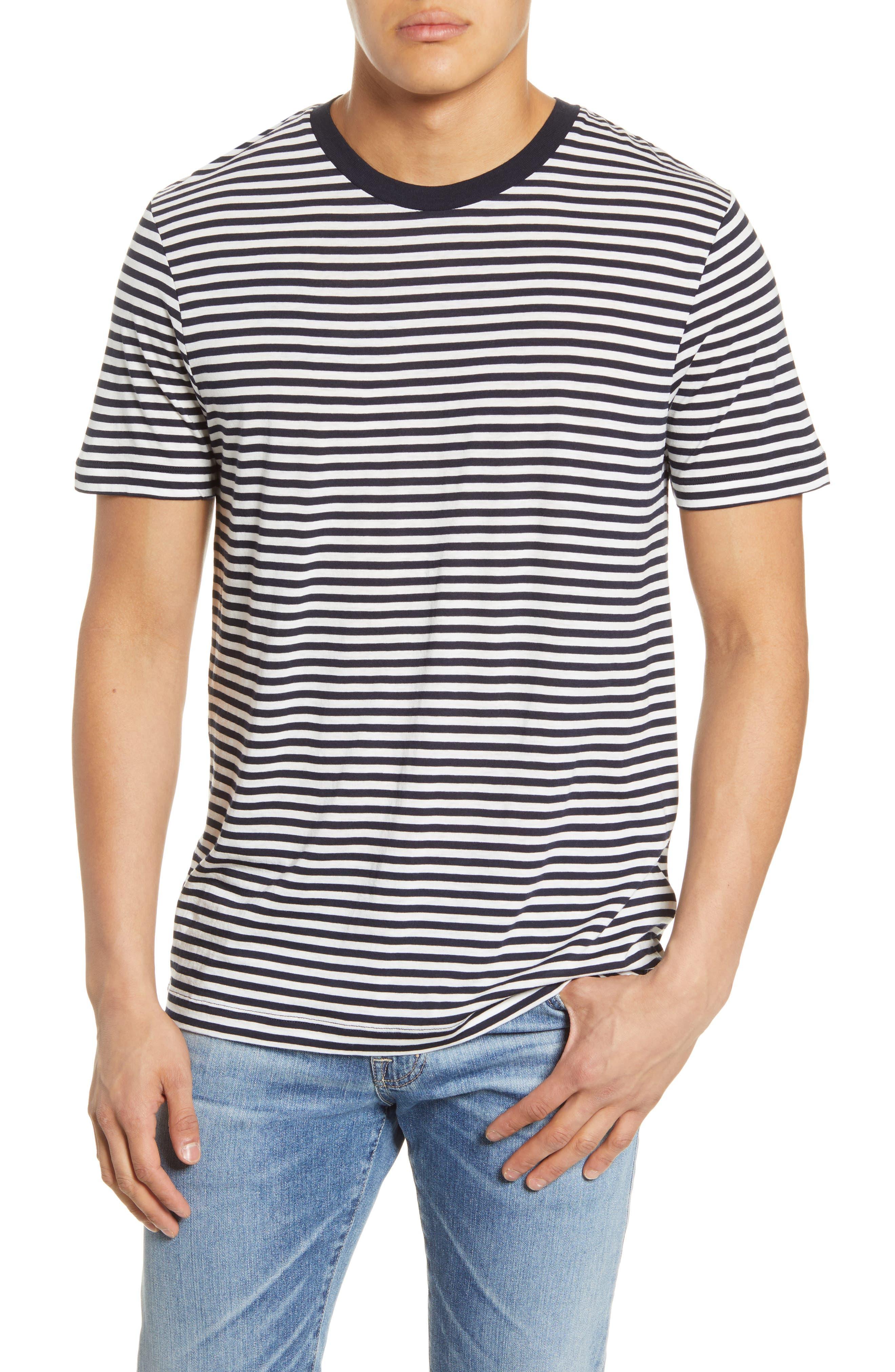 Mens Vintage Shirts – Retro Shirts Mens Scotch  Soda Stripe Slim Fit T-Shirt $32.50 AT vintagedancer.com