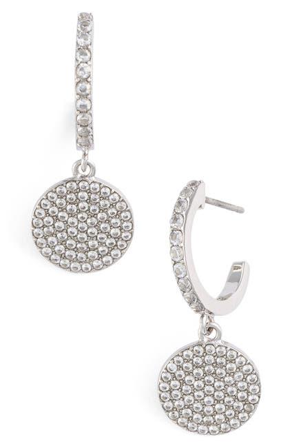 Image of kate spade new york pave drop earrings
