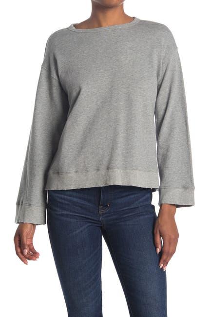 Image of PAM AND GELA Heathered Open Back Sweatshirt