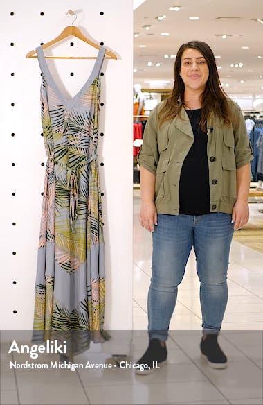 Tropical Print Wide Leg Jumpsuit, sales video thumbnail