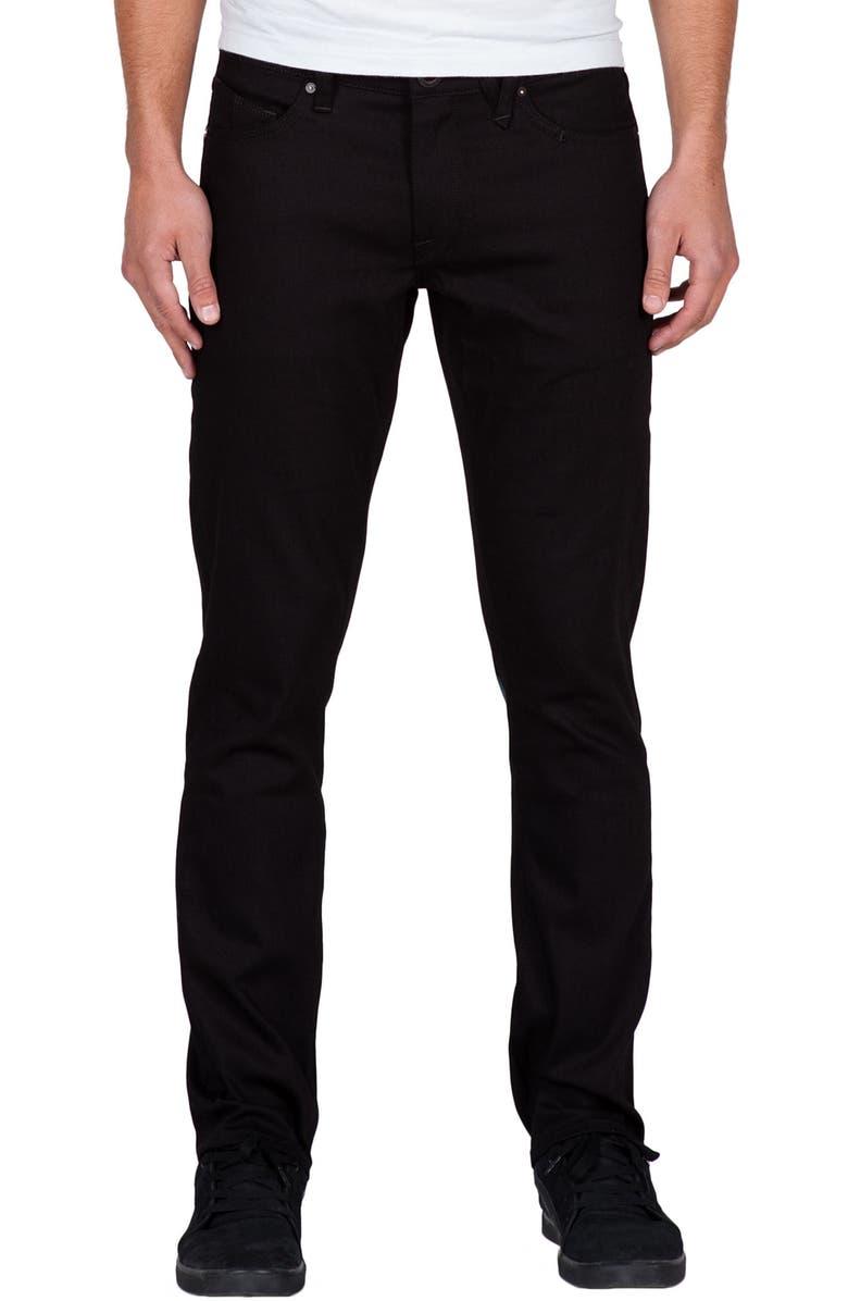 VOLCOM Vorta Slim Fit Jeans, Main, color, 001