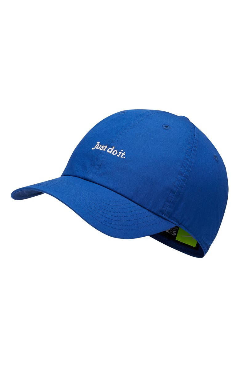 NIKE Just Do It Baseball Cap, Main, color, INDIGO FORCE