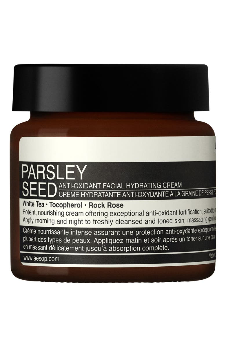 AESOP Parsley Seed Anti-Oxidant Facial Hydrating Cream, Main, color, NO COLOR