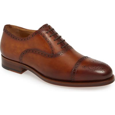 Magnanni Hamilton Medallion Toe Oxford, Brown