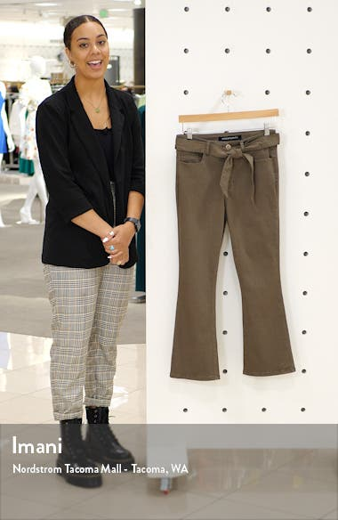 Belted Crop Flare Jeans, sales video thumbnail