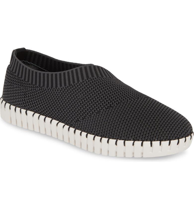 NIC+ZOE Joy Slip-On Sneaker, Main, color, BLACK FABRIC