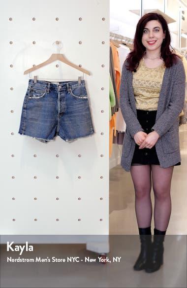 Dee Distressed Super High Waist Denim Shorts, sales video thumbnail