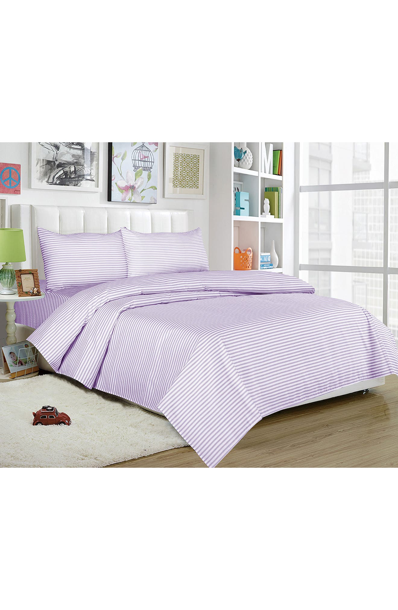 ,                             Regan 4-Piece Full Sheet Set,                             Main thumbnail 1, color,                             LAVENDER