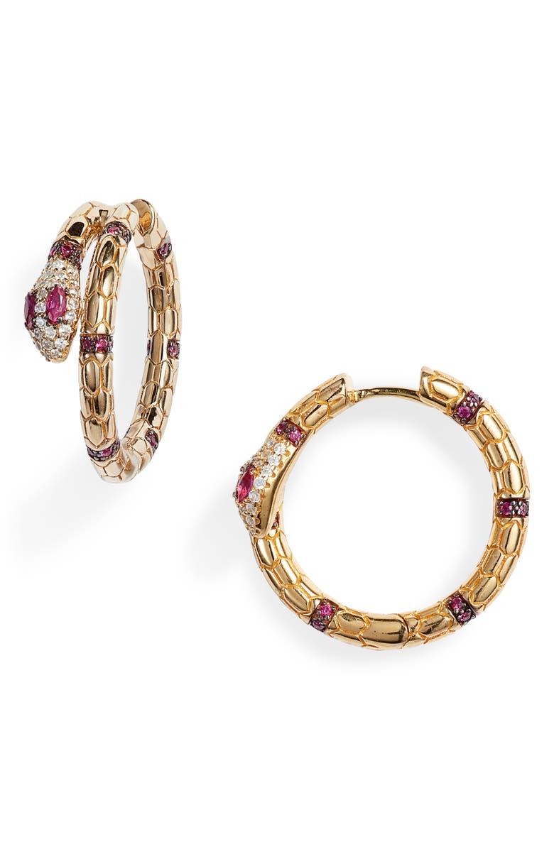APM MONACO Egyptian Tribute Earrings, Main, color, 710