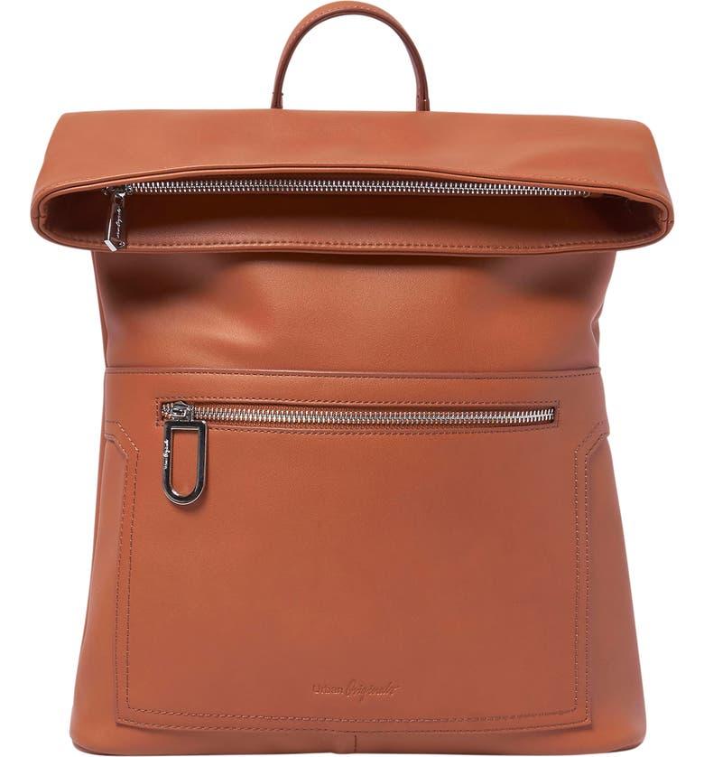 URBAN ORIGINALS Sincerely Vegan Leather Backpack, Main, color, TAN