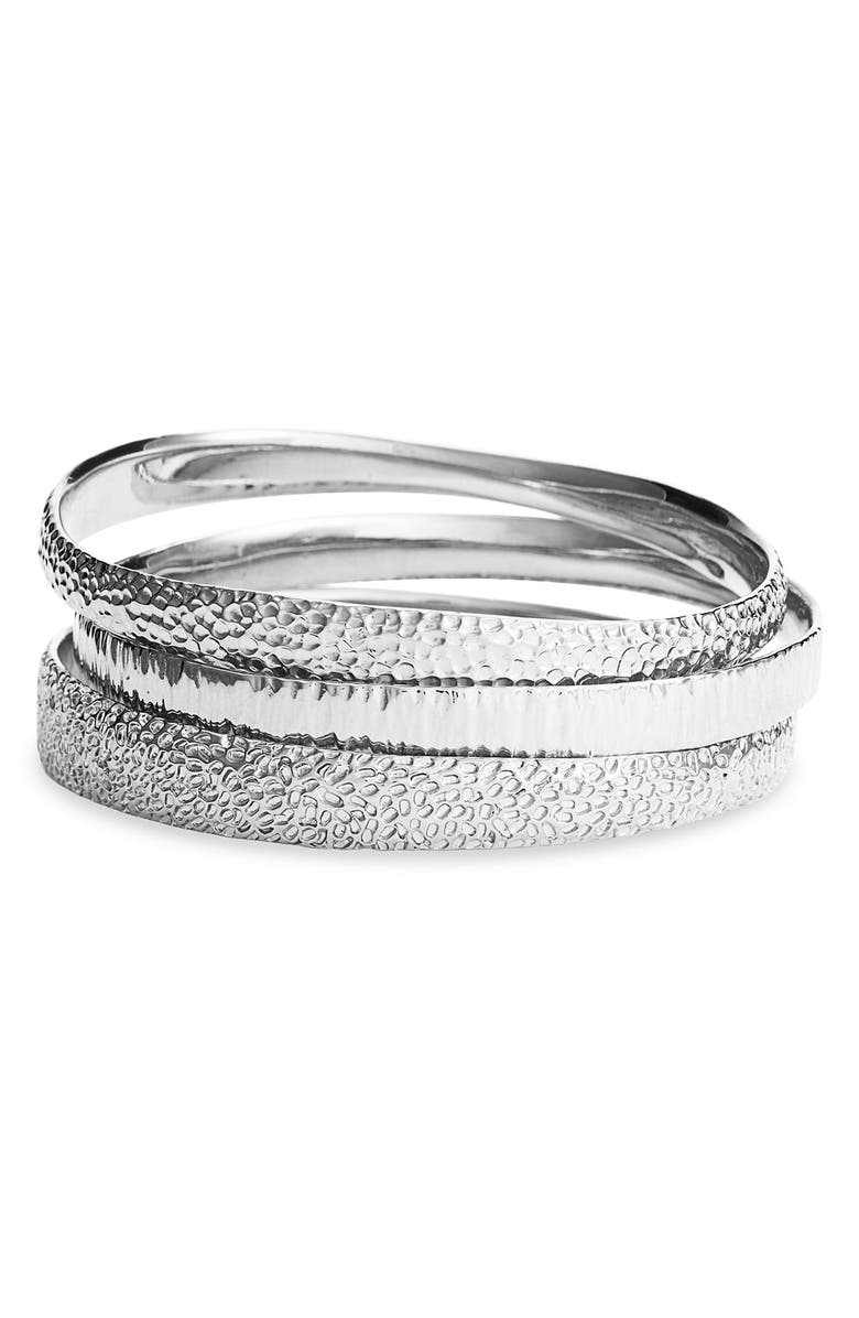 NORDSTROM 'Neo Geometric' Textured Bangles, Main, color, 040