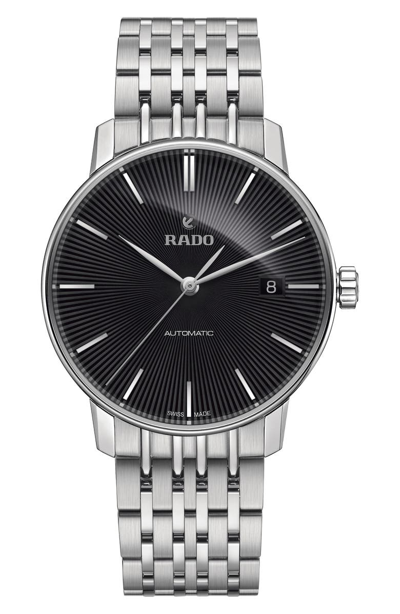 RADO Coupole Classic Automatic Bracelet Watch, 32mm, Main, color, SILVER/ BLACK/ SILVER